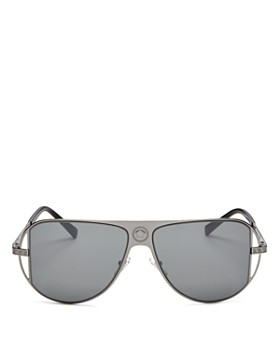 Versace - Unisex Mirrored Aviator Sunglasses, 57 mm