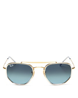 Ray-Ban - Unisex Brow Bar Aviator Sunglasses, 52mm