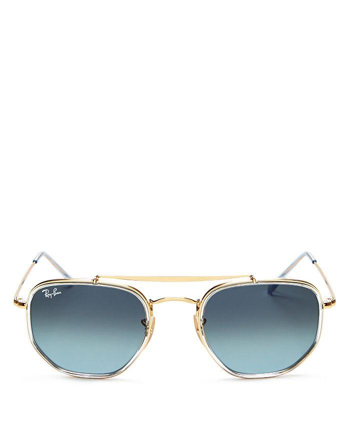 Ray-Ban - Unisex Brow Bar Aviator Sunglasses, 52mm