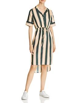 Scotch & Soda - Striped Drawstring Shirt Dress