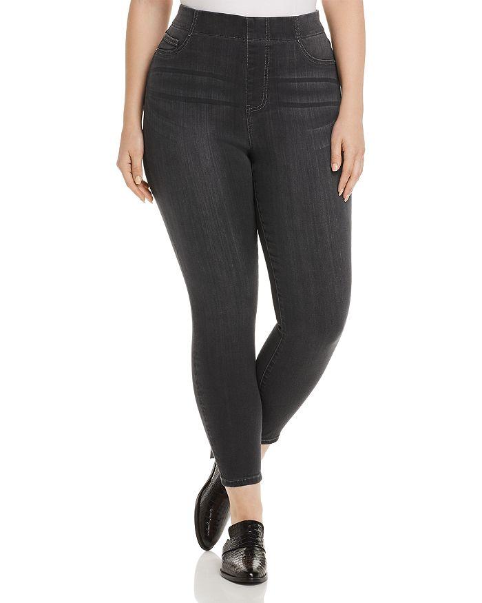 Liverpool Los Angeles Plus - Chloe High-Rise Skinny Ankle Jeans in Meteorite