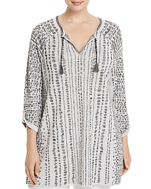 Nic+Zoe Plus Natural Instinct Printed Tunic