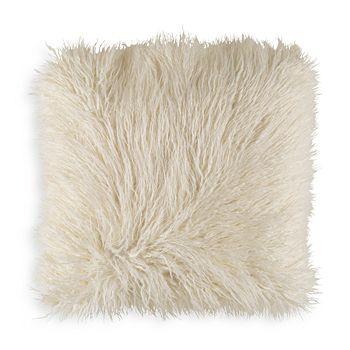 "Surya - Faux Fur Throw Pillow, 18"" x 18"""