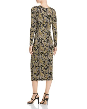 Joie - Aja Long-Sleeve Paisley Midi Dress