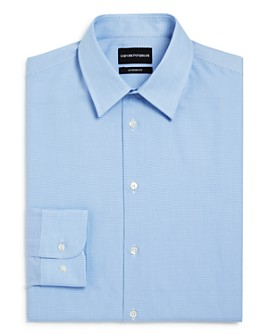 Armani - Micro Houndstooth Regular Fit Dress Shirt