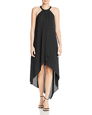High/Low Draped Gown