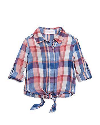 Bella Dahl - Girls' Knotted Plaid Shirt - Little Kid, Big Kid
