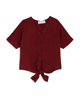 Bella Dahl - Girls' Front-Tie Top - Little Kid, Big Kid