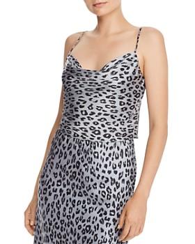 Bardot - Leopard-Print Cowl-Neck Camisole