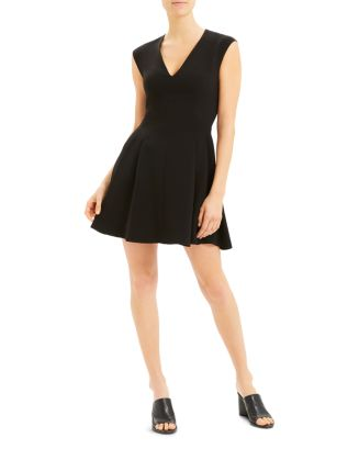 sleeveless-fit-and-flare-dress by theory