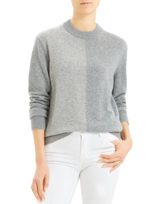 colorblocked-crewneck-cashmere-sweater by theory