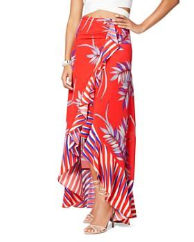 Ramy Brook - Kyle Palm-Print Silk Blend Maxi Skirt