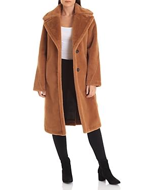 Avec Les Filles Coats NOTCHED COLLAR BONDED FAUX FUR COAT