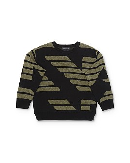 Armani - Boys' Jacquard-Knit Logo Sweater - Little Kid, Big Kid