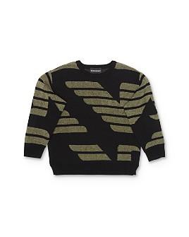 Armani - Boys' Jacquard-Knit Logo Sweater - Little Kid, Big Kid