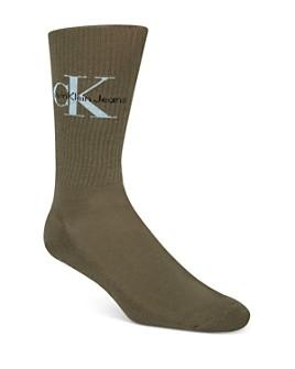 Calvin Klein - Logo-Patterned Ribbed Socks