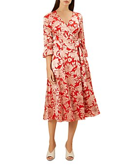 HOBBS LONDON - Justina Faux-Wrap Floral-Print Dress