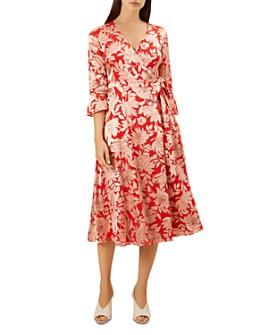 HOBBS LONDON - Justina Faux-Wrap Floral-Print Dress