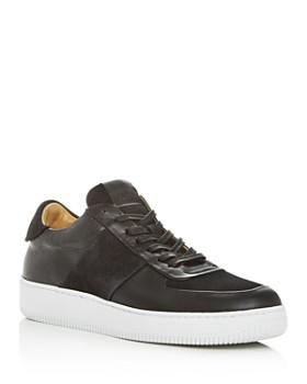 Collegium - Men's Pillar Court Leather Low-Top Sneakers