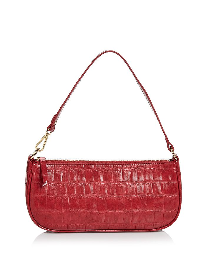 AQUA - Croc-Embossed Shoulder Bag - 100% Exclusive