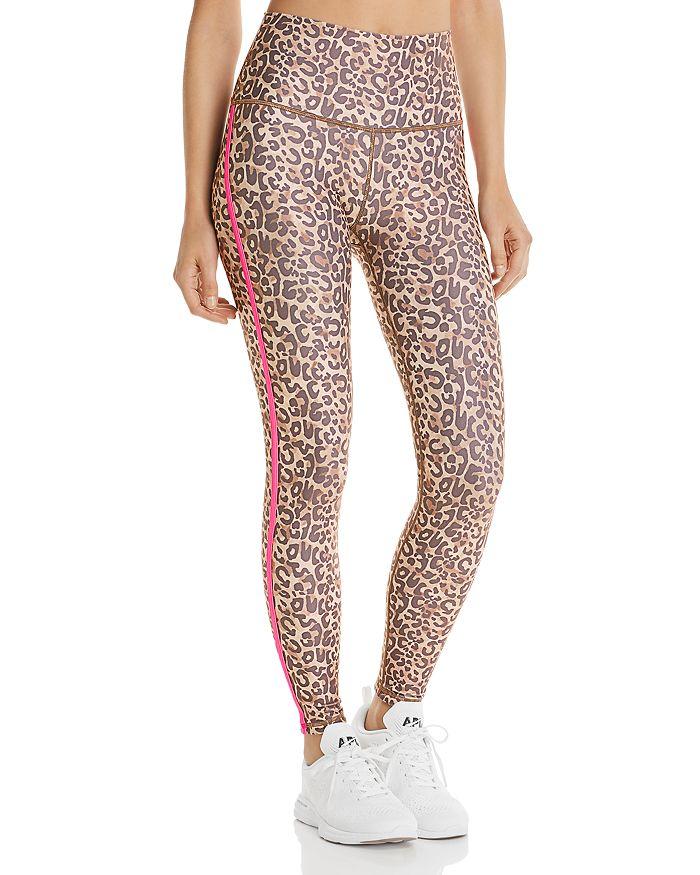 Wear It To Heart - Side-Stripe Leopard Print Leggings