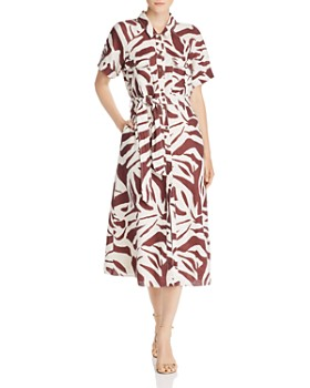 Whistles - Graphic Zebra-Printed Shirt Dress