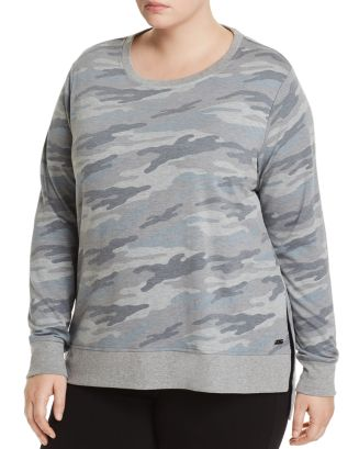 Camouflage Print French Terry Sweatshirt by Marc New York Performance Plus