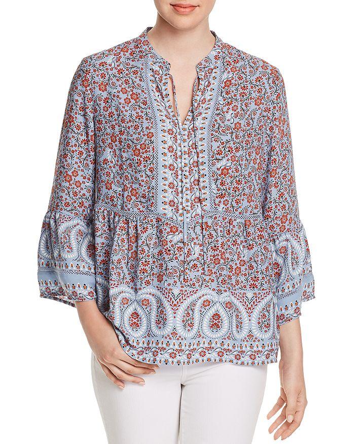 Single Thread - Floral-Print Bell-Sleeve Blouse