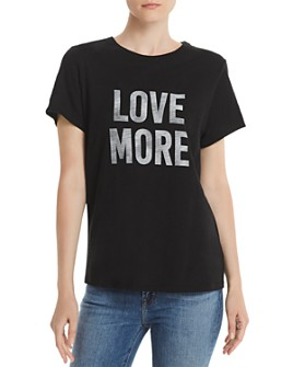 Cinq à Sept - Love More Slub-Knit Graphic Tee