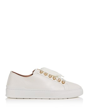 Stuart Weitzman - Women's Embellished Lace-Up Platform Sneakers