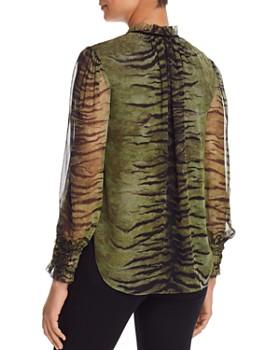 Elie Tahari - Zeina Tiger-Print Silk Blouse