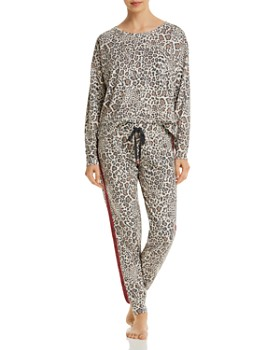 PJ Salvage - Wild Heart Leopard-Print French Terry Top & Pants