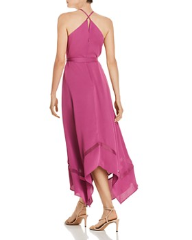 BCBGMAXAZRIA - Crêpe-Back Satin Faux Wrap Dress
