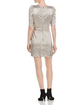 Alice and Olivia - Judy Metallic Ruched Dress