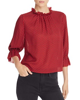 FRAME - Brooke Ruffled Silk Top