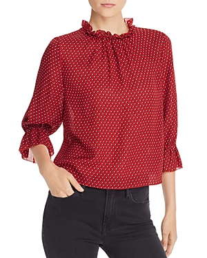 Frame Tops BROOKE RUFFLED SILK TOP
