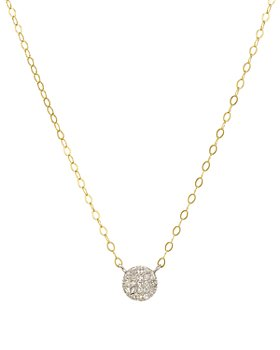 """Bloomingdale's - Diamond Disc Pendant Necklace in Gold-Plated Sterling Silver & Sterling Silver, 15.5"""" - 100% Exclusive"""