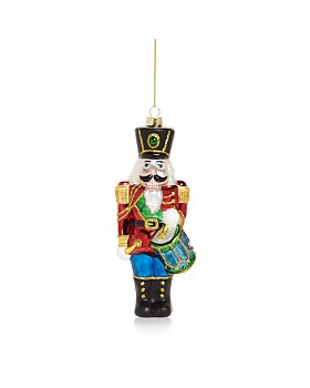 Bloomingdale's - Nutcracker Glass Ornament - 100% Exclusive