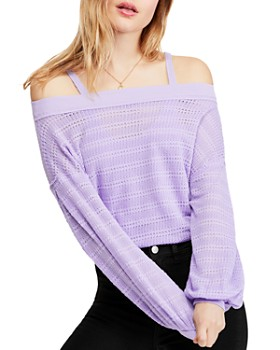 Free People - Sistine Pointelle Cold-Shoulder Top
