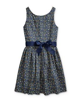Ralph Lauren - Girls' Floral Poplin Dress - Big Kid