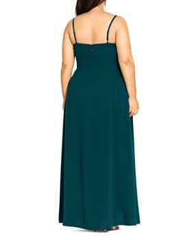 City Chic Plus - Catalina Ruffle Gown