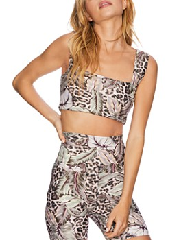 Beach Riot - Liv Botanical Leopard Print Cropped Top