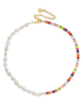 BAUBLEBAR - Ellie Multicolor Collar Necklace, 14""