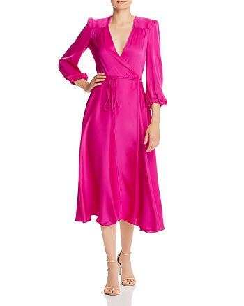 Milly Gina Silk Blend Wrap Dress Bloomingdale S