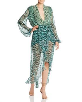 Rococo Sand - Leopard & Zebra Chiffon Maxi Dress