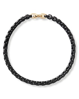 David Yurman - Stainless Steel Bel Aire Chain Bracelet with 14K Yellow Gold Accent