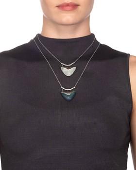 "Alexis Bittar - Crystal & Lucite-Detail Pendant Necklace, 16"""