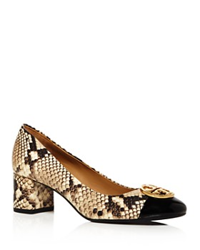 Tory Burch - Women's Chelsea Snake-Print Cap Toe Pumps