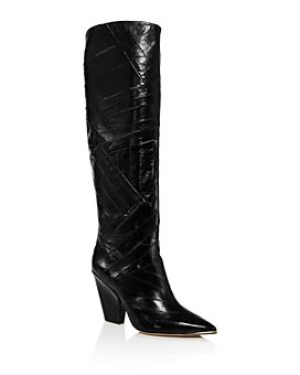 Tory Burch - Women's Lila Animal-Embossed Tall Boots