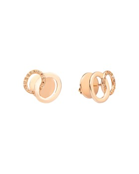 Pomellato - 18K Rose Gold Brera Brown Diamond Stud Earrings